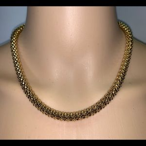"Vintage Gold Necklace by Monet 17.5"" Faux Costume"